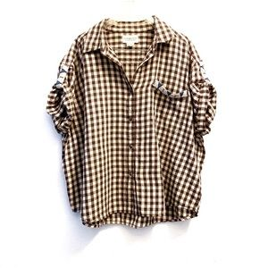 Denim&Supply Ralph Lauren Oversized Gingham Shirt